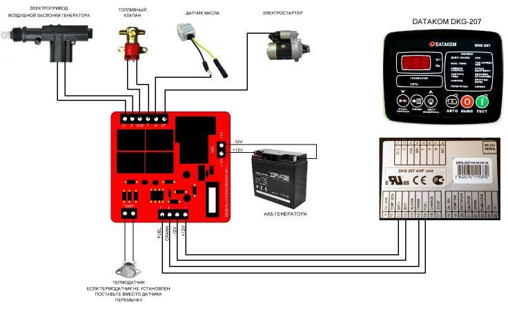 Схема авр для генератора с системой запуска фото 212